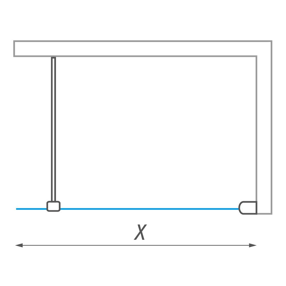 WALK PRO/900, Instalační rozměr (y): 881-886, Profil: Brillant, Typ: WALK PRO/900, Výplň: Transparent, Výška (h): 2025 mm, Způsob dodání: O, WALK PRO