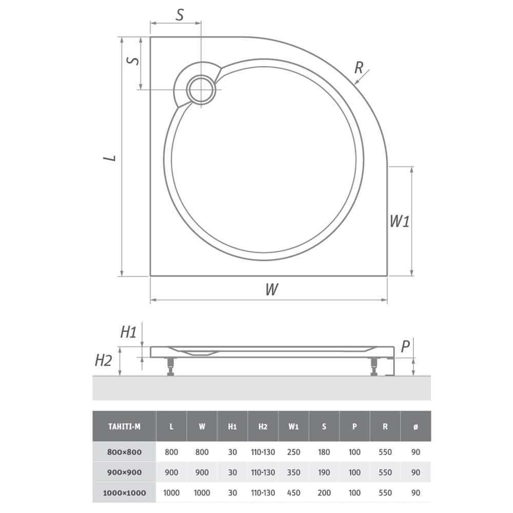 Panel čelní TAHITI-M /800, Rádius: -, Rozměr: Panel 800, Typ: Panel čelní TAHITI-M /800, Výška (h): -, Způsob dodání: S, TAHITI-M