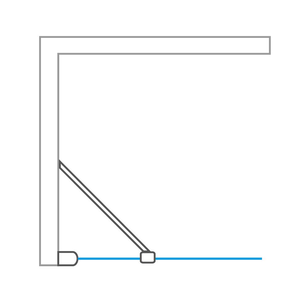 TCO1/800+TBL/900, Instalační rozměr (y): Viz technická specifikace, Profil: Brillant, Šířka dveří: 800, Šířka pevné stěny: 900, Typ: TCO1/800+TBL/900, Výplň: Intima, TCO1+TB