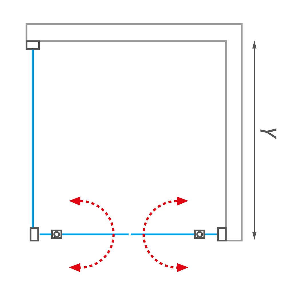 LLDO2/1000+LLB/700, Instalační rozměr (y): Viz technická specifikace, Profil: Brillant, Šířka dveří: 1000, Šířka pevné stěny: 700, Typ: LLDO2/1000+LLB/700, Výplň: Intimglass, LLDO2+LLB