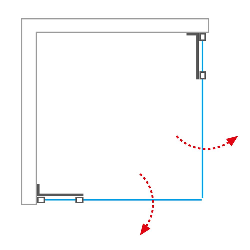 GDO1N/1000+GDO1N/1200, Instalační rozměr (y): Viz technická specifikace, Profil: Brillant, Šířka druhých dveří: 1200, Šířka dveří: 1000, Typ: GDO1N/1000+GDO1N/1200, Výplň: Transparent, GDO1N+GDO1N