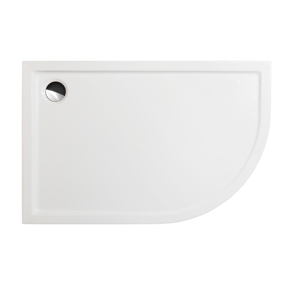 FLAT ASYMMETRIC (L), Orientace: Levá, Rozměr: 1200 × 800, Typ: FLAT ASYMMETRIC (L), Výška (h): 50 mm, Způsob dodání: S, FLAT ASYMMETRIC