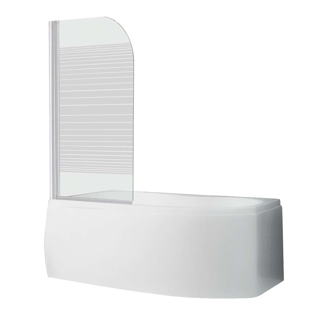SCREEN, Profil: Bílý, Rozměr: 1300 × 750, Šířka: 75 cm, Šířka koutu: 75 cm, Typ: SCREEN - SANIPRO, Výplň: Potisk, Výška (h): 1300 mm, Způsob dodání: S, SCREEN