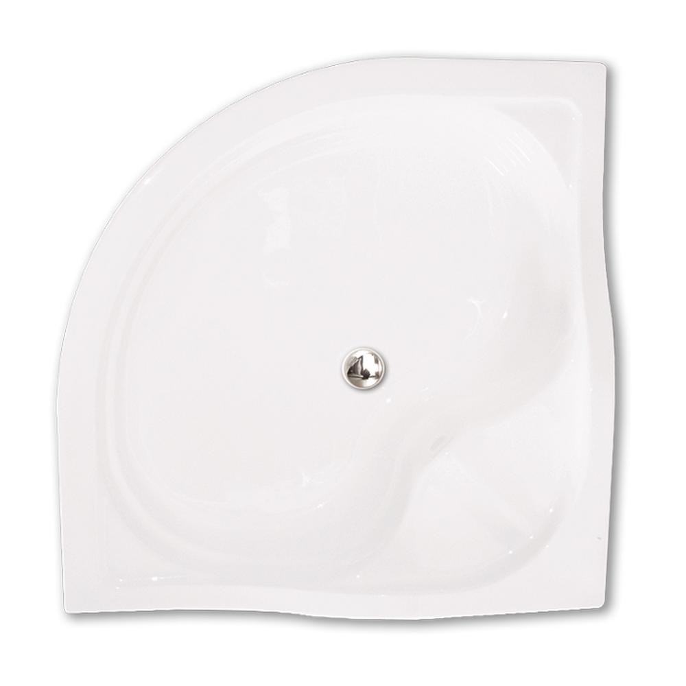 Sprch. vanička SEMIDEEP NEO 800×800, Délka: 80 cm, Hloubka: 200 mm, Rádius: R550, Rozměr: 800 × 800, Šířka: 80 cm, Typ: SEMIDEEP NEO - SANIPRO /800, Výška (h): 290 mm, Způsob dodání: S, SEMIDEEP NEO