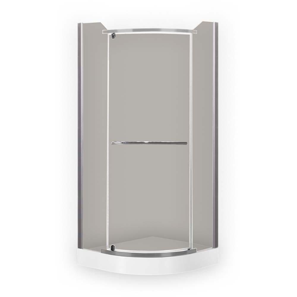 DENVER/900, Instalační rozměr (y): 880–900, Profil: Stříbro, Typ: DENVER/900, Vstupní otvor (c): 590, Výplň: Rauch, Výška (h): 1950 mm, Způsob dodání: S, DENVER