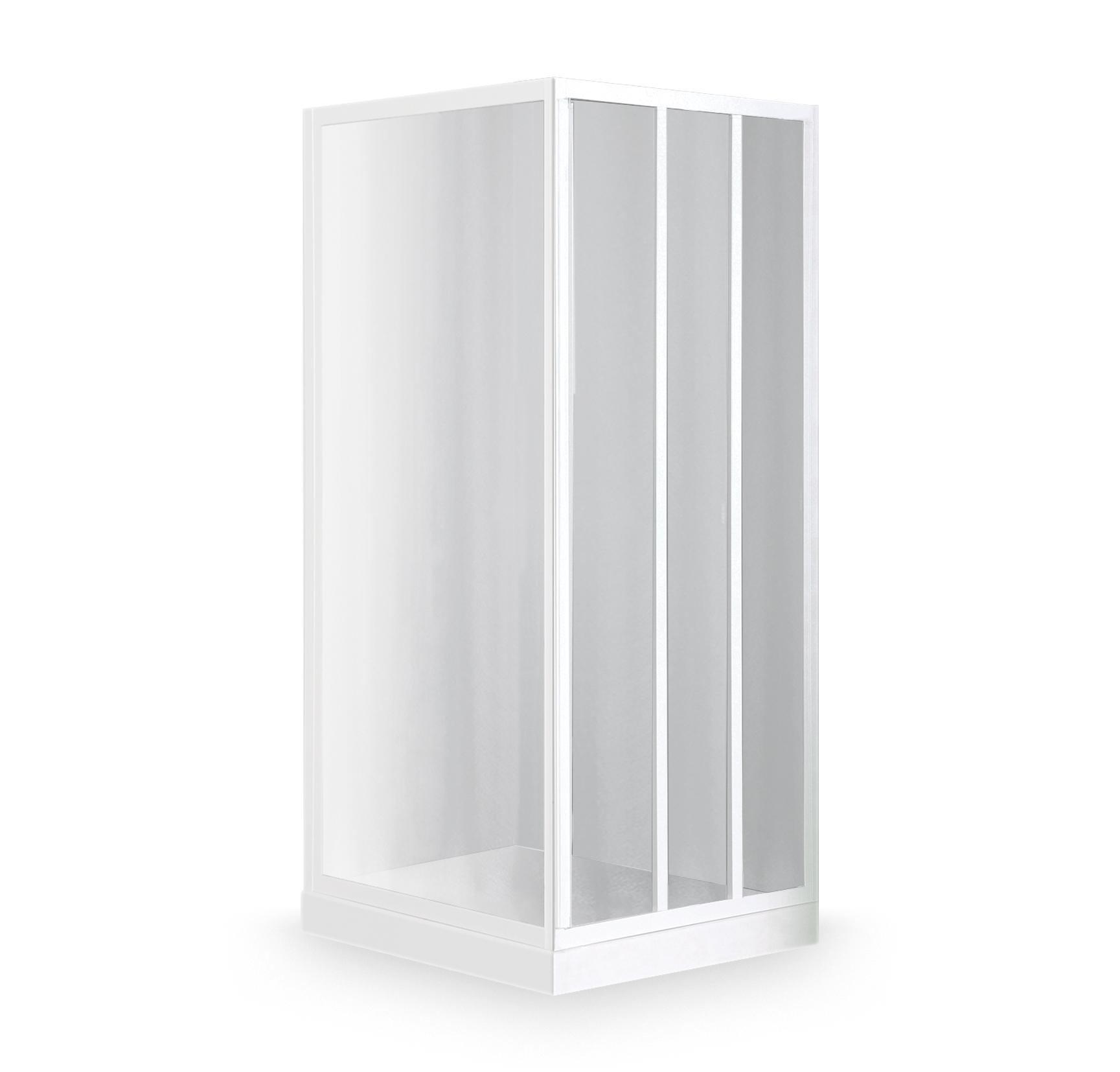 LD3/800+LSB/850, Instalační rozměr (y): Viz technická specifikace, Profil: Bílý, Šířka dveří: 800, Šířka pevné stěny: 850, Typ: LD3/800+LSB/850, Výplň: Damp, LD3+LSB