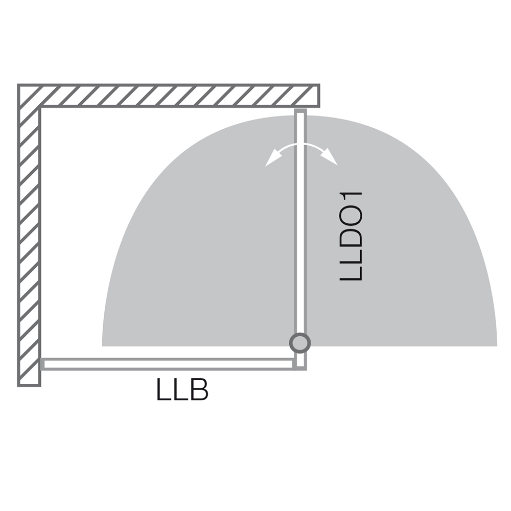 LLDO1/1000+LLB/800, Instalační rozměr (y): Viz technická specifikace, Profil: Brillant, Šířka dveří: 1000, Šířka pevné stěny: 800, Typ: LLDO1/1000+LLB/800, Výplň: Intimglass, LLDO1+LLB